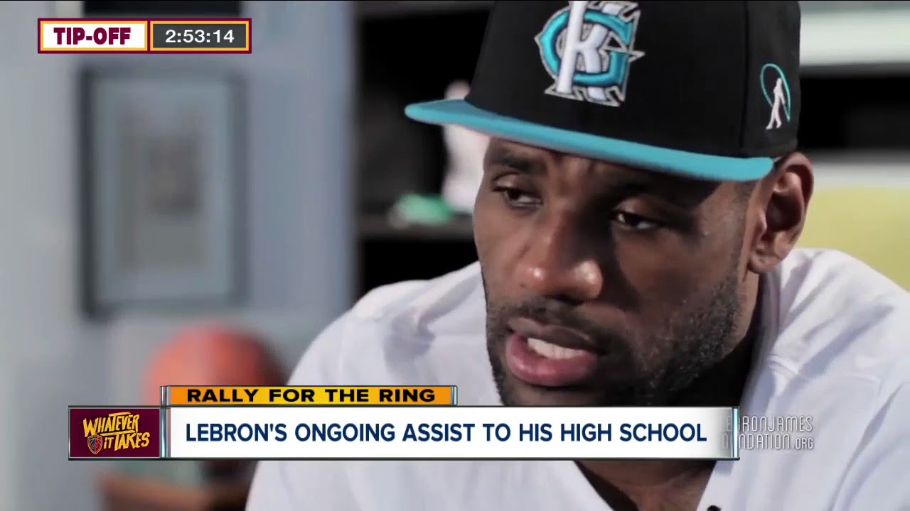 ea68e0bf519a4 LeBron James continues to give back to alma mater St. Vincent-St. Mary High  School