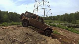 OF4WD Newbie Run June 2017 - Scotch Line Road - Minden, Ontario - Stock JKU & A Blown Tire!