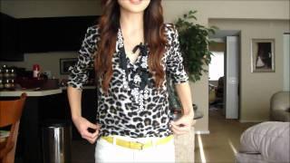 OOTD: Leopard & White Jeans