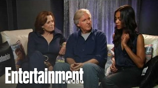 Avatar' Stars Zoe Salana, Sigourney Weaver & Director James Cameron Interview | Entertainment Weekly