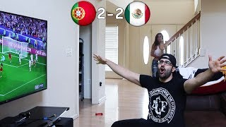 Me Reacting to PORTUGAL, MEXICO Football Game!!!