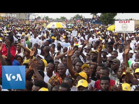 Guinea Counter-Rally Backs President Conde's Constitutional Bid