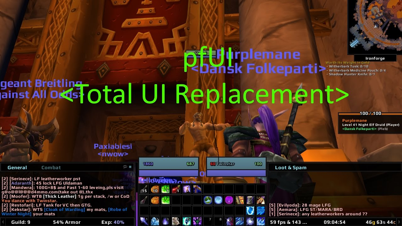 Vanilla WoW Addon Review: pfUI Total UI Replacement