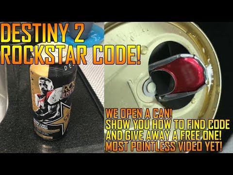 Destiny 2: Rockstar Energy Unboxing, Opening the Can + Free Codes