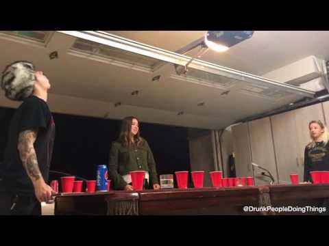 Big Mad Morning Show - Epic Beer Pong Shot!