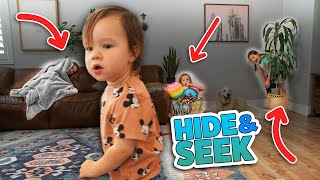 HIDE and SEEK From Our 1 Year Old BABY!