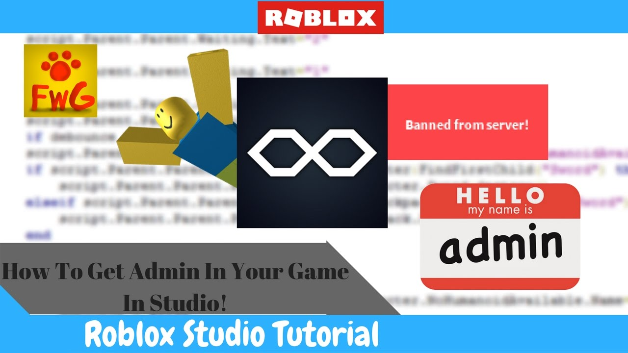 How To Get Admin In Your Game In Roblox Studio!