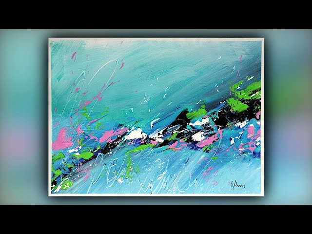 Easy Abstract Painting Technique / Acrylic Paint / Palette Knife / Demo #087