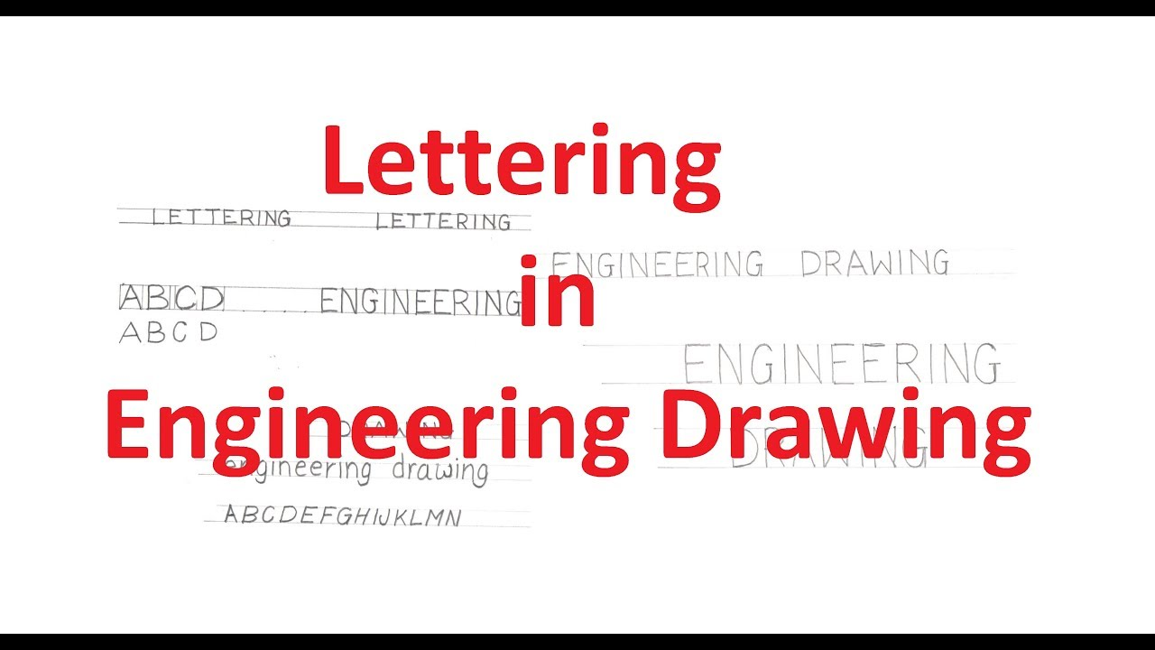 1.2-Lettering in Engineering Drawing: English Letters and Numbers
