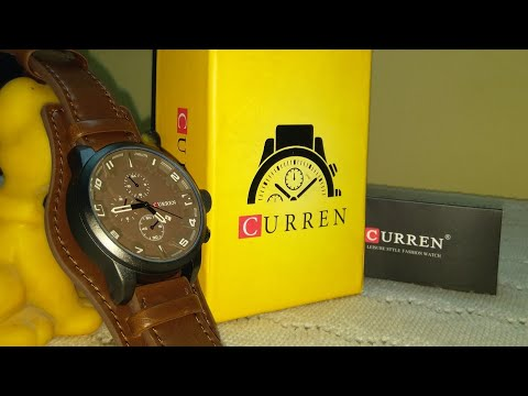 UNBOXING; CURREN Leather Casual MEN's Watch. . .