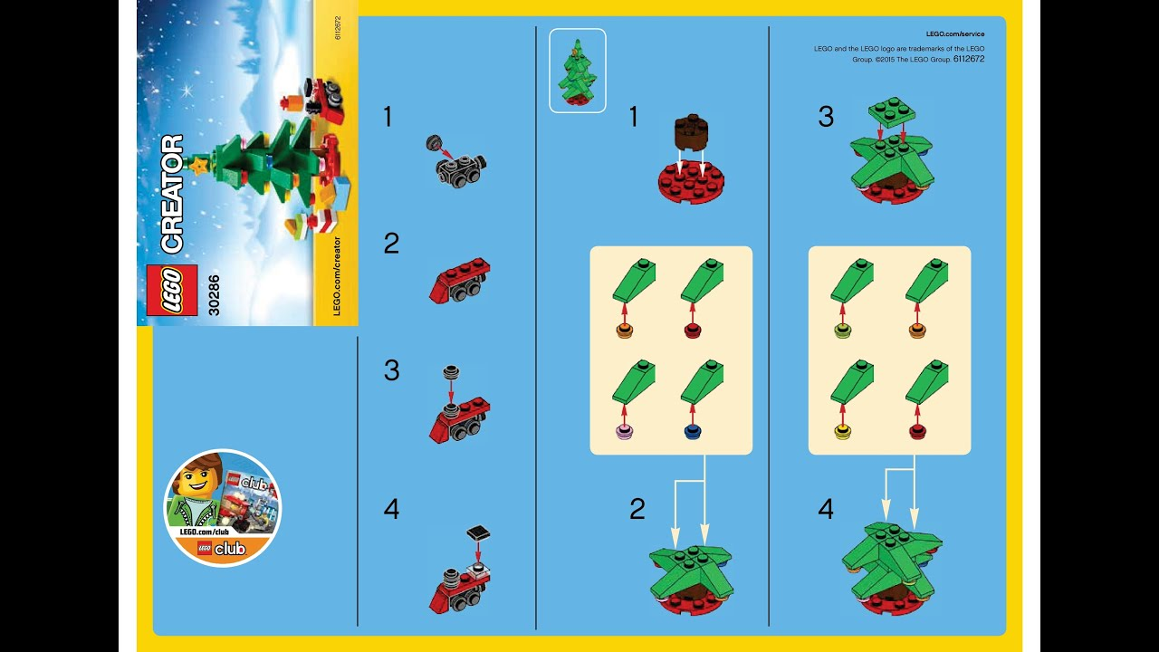LEGO 30286 Christmas Tree Instructions LEGO SEASONAL 2015 Polybag