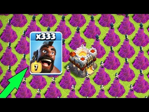 300 Max Hog Rider VS 300 Wizard Tower Stratgy | COC Mod Server Funny GamePlay