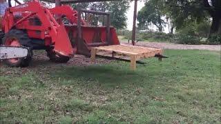 Build A Front End Loader Lift Platform From A Pallet