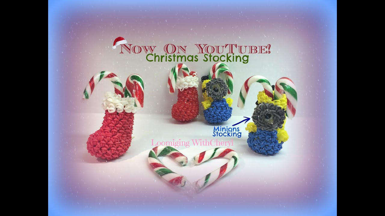 rainbow loom minion santa boot christmas stocking ornament loomigurumi amigurumi hook only youtube - Minion Christmas Stocking
