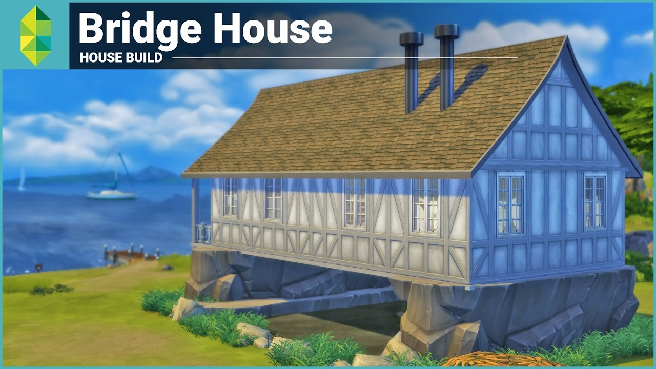 The Sims 4 House Building - Bridge House - YouTube