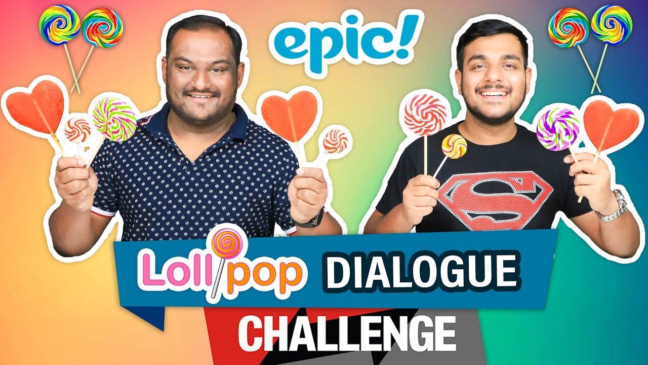 EPIC LOLLIPOP DIALOGUE CHALLENGE | Eating Challenge | Food Eating Competition | Food Challenge