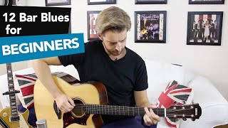 """12 Bar Blues for Beginners Guitar - Eric Clapton Style """"Before You Accuse Me"""""""