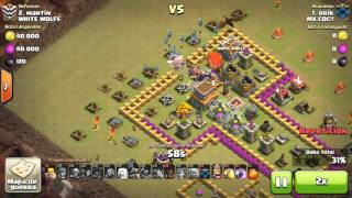 Ataque arca de Noé con th8 a aldea denigrante!!!! Clash of clans