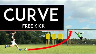 How to CURVE a BĄLL   Take AMAZING Free kicks!