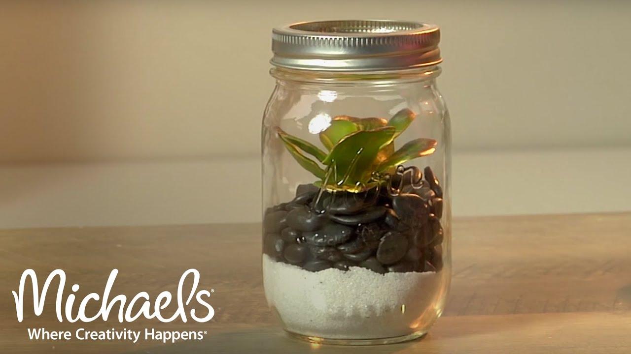 How To Make A Mason Jar Garden Michaels Youtube