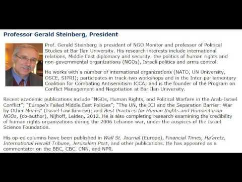 Prof. Gerald Steinberg, on Galei Tzahal Radio, April 4, 2013