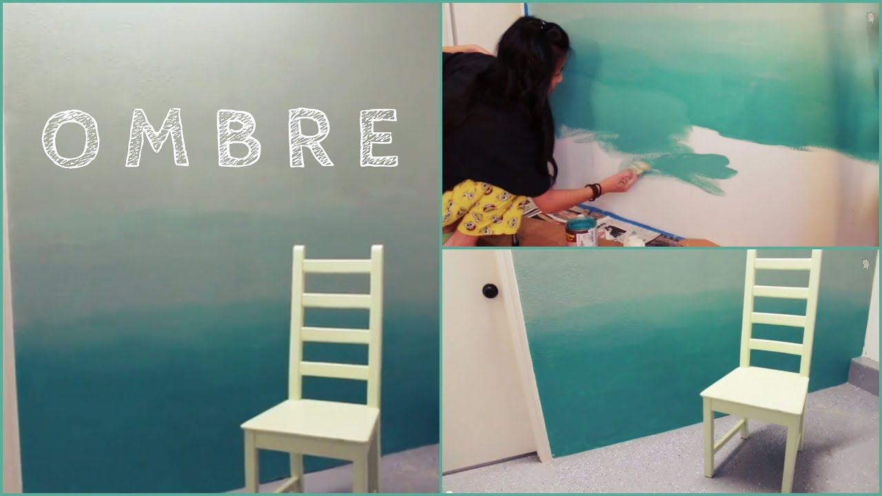 diy ombre wall how to paint tips youtube