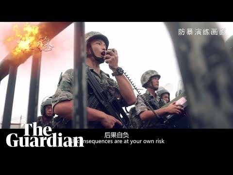 Hong Kong protests: China releases dramatic army propaganda