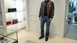 Total-look от Billionaire: бомбер Zavier, свитер Rolf, джинсы Crest, кроссовки Stephan