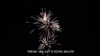 Fajerwerki TXB104 ROYAL SALUTE 96s. 0,8