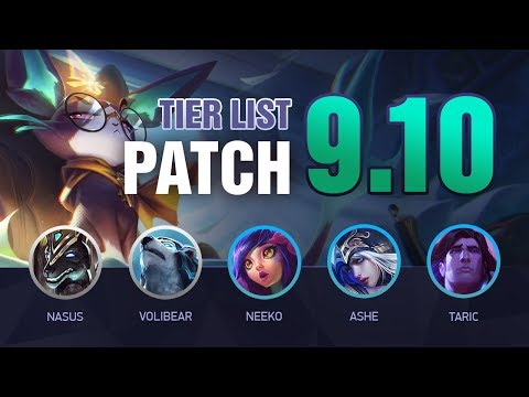 LoL Tier List Patch 9.10 by Mobalytics (The Yuumi Patch)