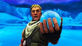 How to TELEPORT by USING the ICE SPHERE in Fortnite! Teleport to Salty Springs! Fortnite Glitch