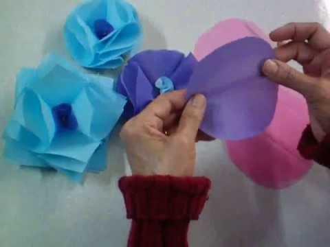 Flor de pl stico costurada passo a passo youtube - Flores de plastico ...