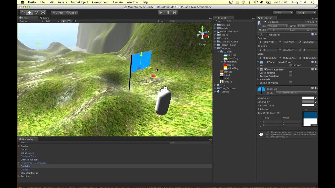 Unity - How to Create Transparent Scene Guides