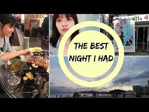 HAEUNDAE 해운대 🌊 & KOREAN BBQ (Haha & Jongkook's restaurant) 🤤 // busan: episode 6.5