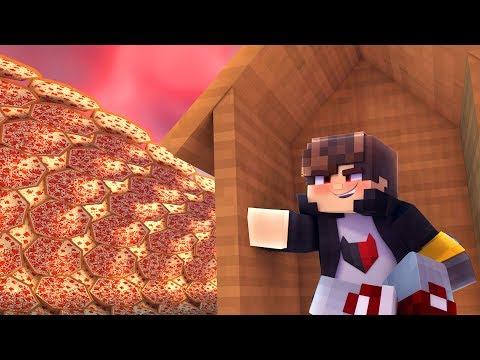 Minecraft: DESAFIO DA BASE 100% SEGURA CONTRA TSUNAMI DE PIZZA ‹ JUAUM ›