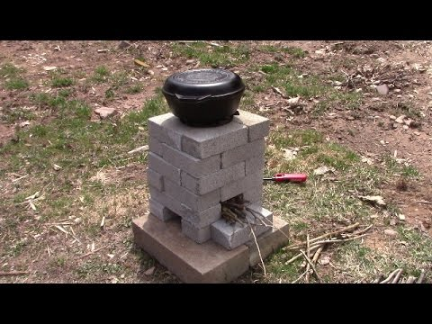 DIY Brick Rocket Stove - Cooking Without Power
