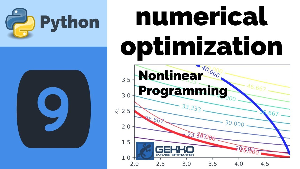Numerical Optimization with Python GEKKO