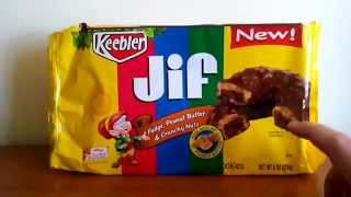Sweet Treats Reviews - Keebler Jif Fudge, Peanut Butter & Crunchy Nuts Cookies, Brownie Batter Oreos