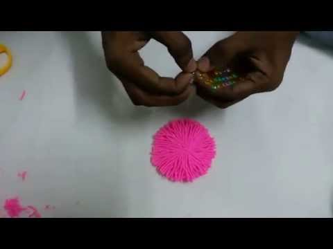 Beautiful Woolen Flower Making With Simple Steps