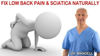 HOW TO FIX PINCHED NERVE CAUSING LOW BACK PAIN & SCIATICA  -  Dr Alan Mandell, DC