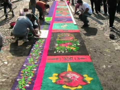 Alfombras semana santa 2011 la antigua for Precio de las alfombras persas