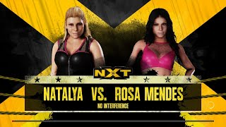 WWE 2K18 - Natalya VS Rosa Mendes