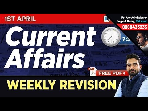 #277 : 1 April 2019 Current Affairs in Hindi | Current Affairs 2019 Questions + Static GK Tricks