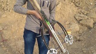 homemade rdt crossbow test  shooting