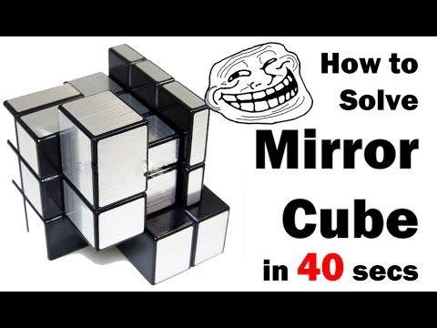 How to solve a mirror cube mirror blocks bump cube in 40 for Cube miroir habitat