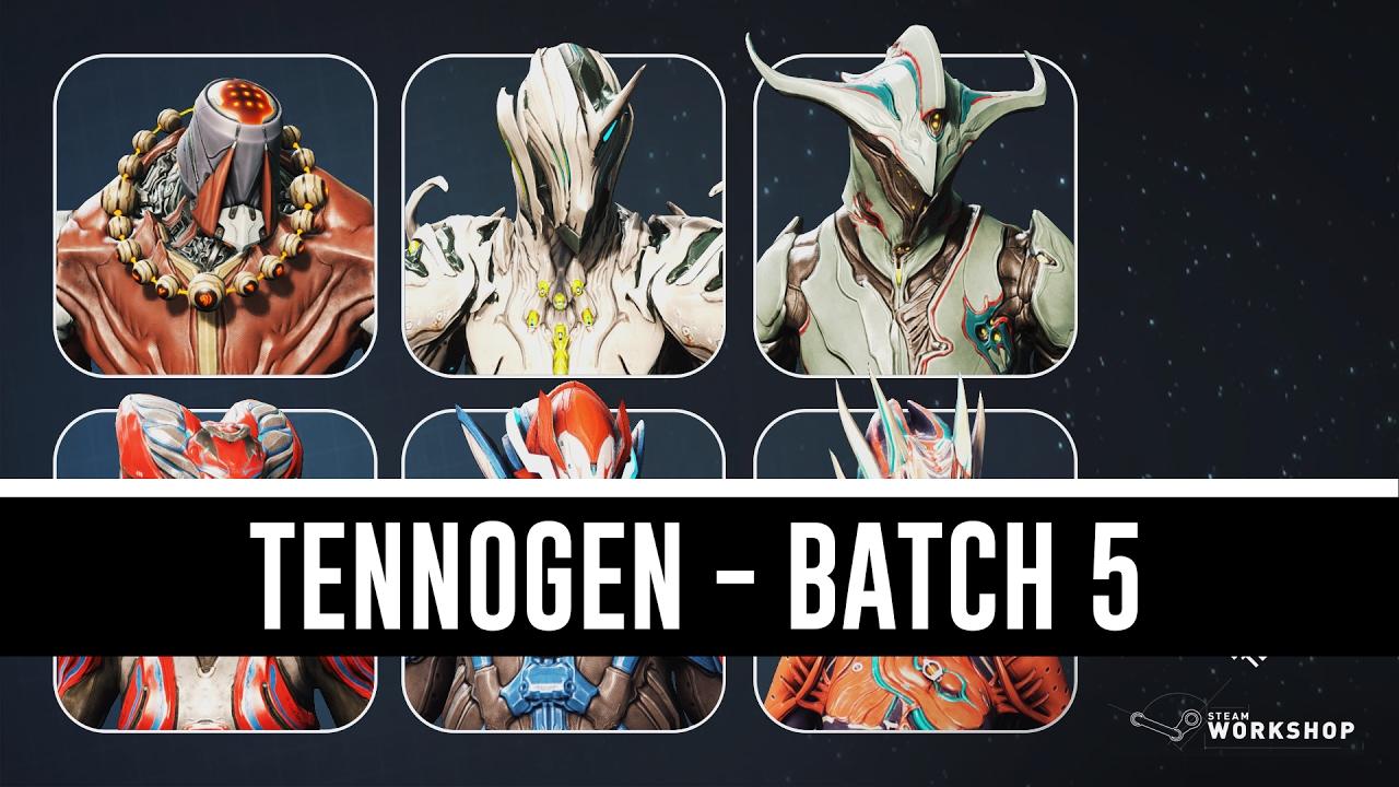 Tennogen Batch 5 Showcase (Warframe) - YouTube