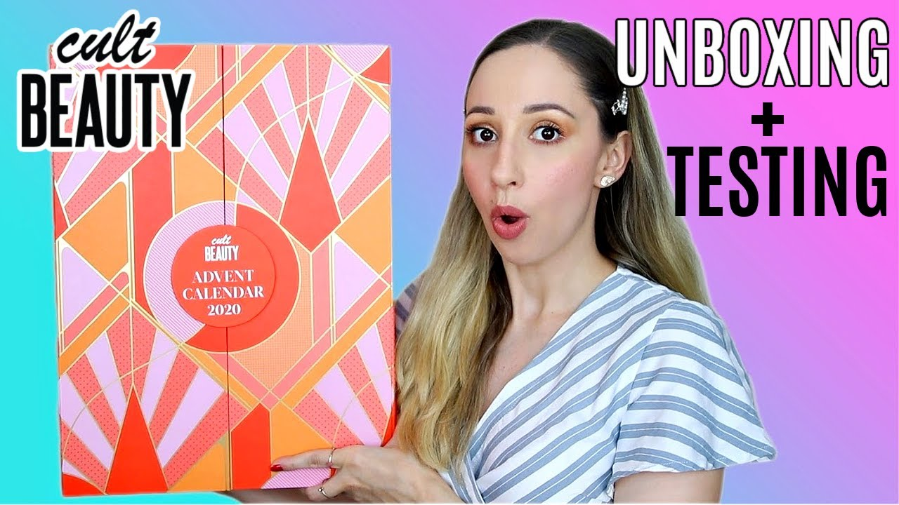 Cult Beauty Advent Calendar 2020 Unboxing Testing Products Overhyped Vasilikis Beauty Tips Youtube