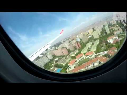 Timelapse - Dhaka to Turkey | flight window view #takeoff_landing