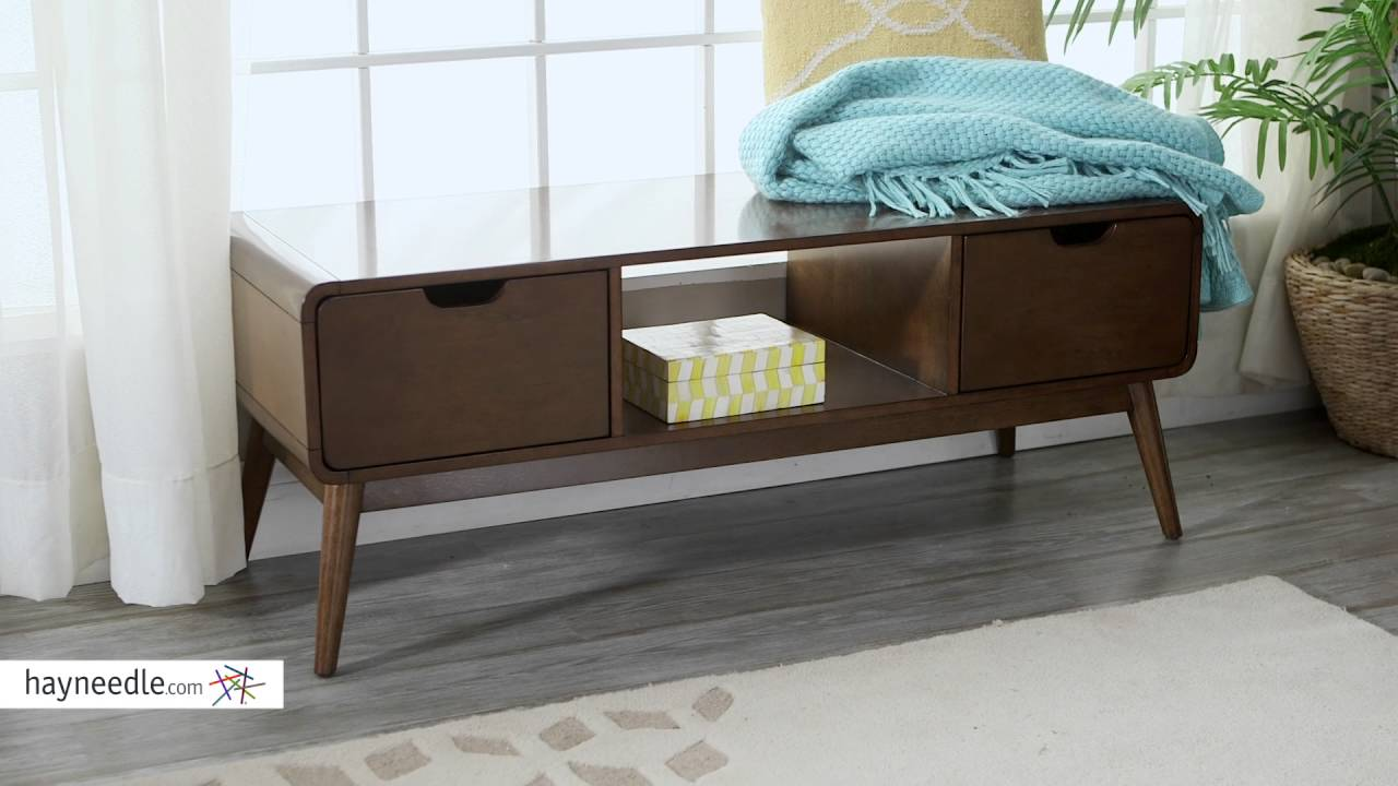 Belham Living Carter Mid Century Modern Bench Product Review Video - Belham living carter mid century modern coffee table