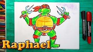 Как нарисовать Черепашку Ниндзя Рафаэля, How to draw ninja turtles Raphael(РыбаКит - Папа рисует: http://www.youtube.com/ribakit3 Я покажу как можно нарисовать Черепашку Ниндзя очень просто! Сегодн..., 2016-02-05T07:14:46.000Z)